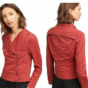 Anthropologie Marrakech Rust Henna Moto Jacket S